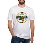 XmasMusic1MC/Dachshund #13 Fitted T-Shirt