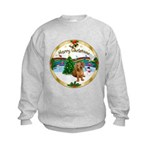 XmasMusic1MC/Dachshund #13 Kids Sweatshirt