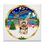 XmasMusic 3/Yorkie #17 Tile Coaster