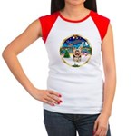 XmasMusic 3/Yorkie #17 Women's Cap Sleeve T-Shirt