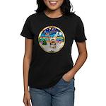 XmasMusic 3/Yorkie #17 Women's Dark T-Shirt