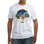 XmasMusic 3/Yorkie #17 Fitted T-Shirt