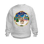 XmasMusic 3/Yorkie #17 Kids Sweatshirt