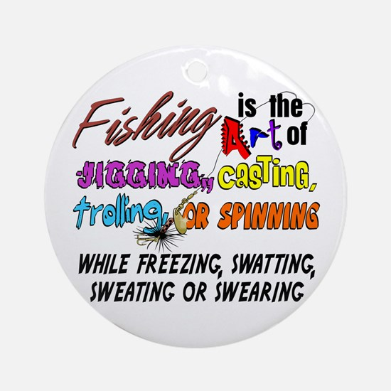 The Art of Fishing Ornament (Round)