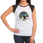 XmasMusic 3/Scottie #12 Women's Cap Sleeve T-Shirt