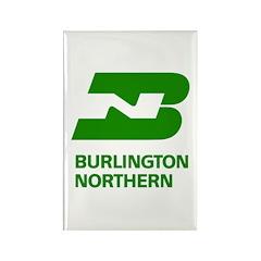 Burlington Northern Rectangle Magnet (10 pack)