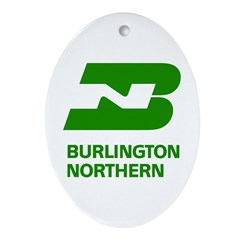 Burlington Northern Oval Ornament