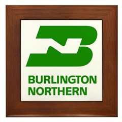 Burlington Northern Framed Tile