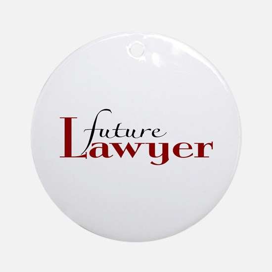 Future Lawyer Ornament (Round)