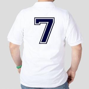 NUMBER 7 BACK Golf Shirt