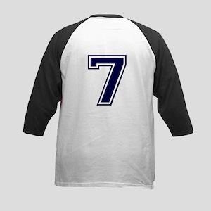 NUMBER 7 BACK Kids Baseball Jersey