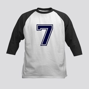 NUMBER 7 FRONT Kids Baseball Jersey