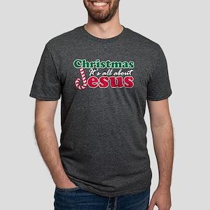 Christmas about Jesus Mens Tri-blend T-Shirt