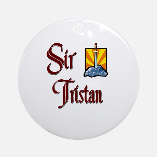 Sir Tristan Ornament (Round)