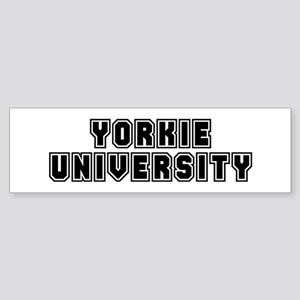 University Bumper Sticker