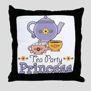 Tea Party Princess Throw Pillow