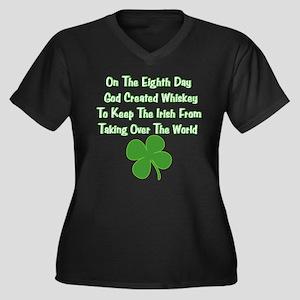 Irish Whiskey Women's Plus Size V-Neck Dark T-Shir
