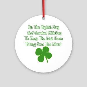 Irish Whiskey Ornament (Round)