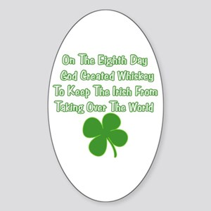 Irish Whiskey Sticker (Oval)
