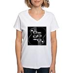 Day & Night Women's V-Neck T-Shirt