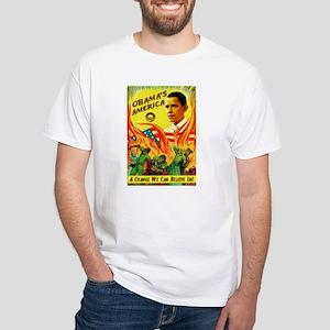 Obama Communist Apocalypse White T-Shirt
