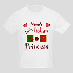 Nana's Little Princess-Red-1 Kids Light T-Shirt