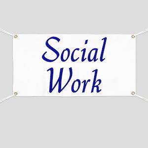 Social Work (blue) Banner