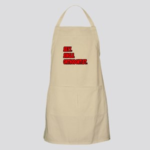 """Sexy. Single. Orthodontist."" BBQ Apron"