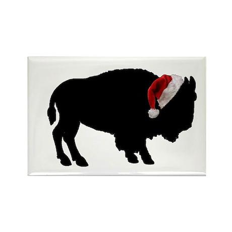 Buffalo Christmas Rectangle Magnet