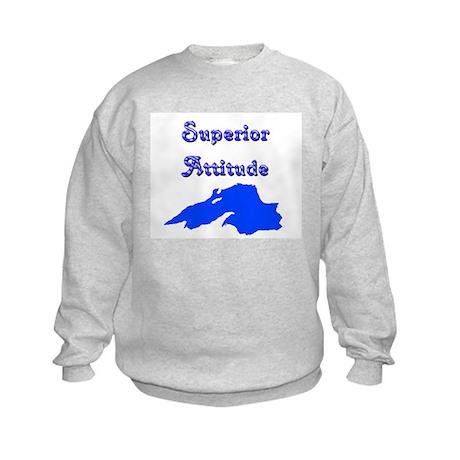 superior attitude Kids Sweatshirt