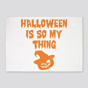 Halloween Is So My Thing Pumpkin 5'x7'Area Rug