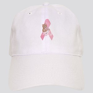 Breast Cancer Ribbon & Kitty Cap