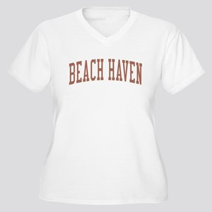 Beach Haven New Jersey NJ Red Women's Plus Size V-