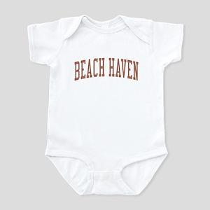 Beach Haven New Jersey NJ Red Infant Bodysuit