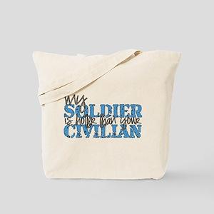 hotter than your civilian - u Tote Bag