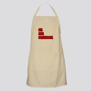 """Sexy. Single. Ophthalmologist."" BBQ Apron"