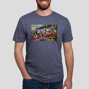 Ishpeming Michigan Greetings (Front) T-Shirt