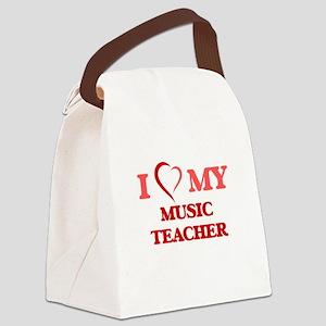 I love my Music Teacher Canvas Lunch Bag