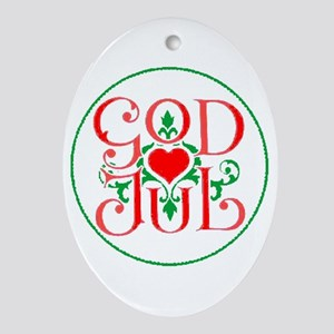 God Jul Oval Ornament