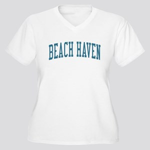 Beach Haven New Jersey NJ Blue Women's Plus Size V