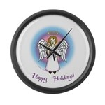 Holiday Angel Large Wall Clock