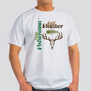 Half Fisherman. Half Hunter. Light T-Shirt