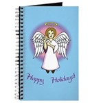 Holiday Angel Blue Journal