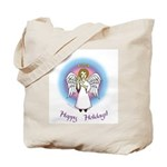 Holiday Angel Tote Bag