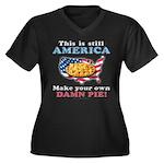 American Pie anti-socialist Women's Plus Size V-Ne