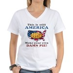 American Pie anti-socialist Women's V-Neck T-Shirt