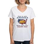 American Pie anti-socialist Women's V-Neck T-Shirt