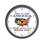 American Pie anti-socialist Wall Clock