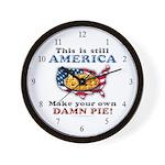 American Pie anti-socialist Wall Clock