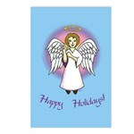 Holiday Angel Blue Postcards (Package of 8)